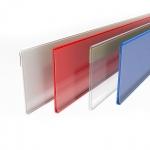 Ценникодержатель пластиковый самоклеящийся 39 мм полочный DBR039-1200 (красный)