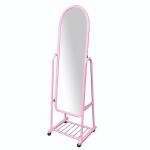 Зеркало торговое на колесах розового цвета А-380