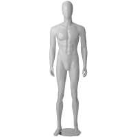 Манекен мужской белый глянец в полный рост CW-16-2