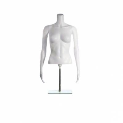 FT-1 White Манекен торс женский на подставке