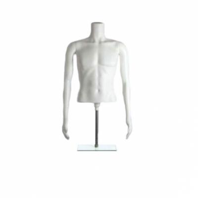 MT-1 White Манекен торс мужской на подставке