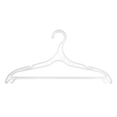 Вешалка плоская пластиковая (белая) А-918А