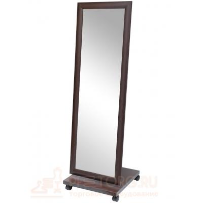 Зеркало напольное в деревянной раме на колесах ЗМ-03