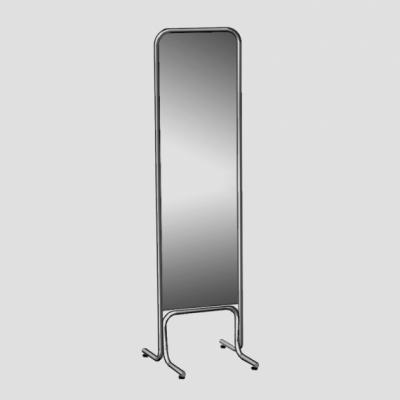 5M-03 Зеркало напольное для магазина, без колес, хром