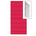 Экономпанель пластиковая пвх сборная.цвет красный 1200*2400мм