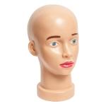 Манекен головы,пластиковая, с лицом
