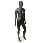 Манекен женский,черный матовый в полный рост на подставке