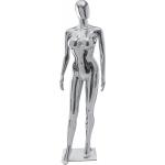 Манекен женский стилизованный серебристого цвета 25ФЕ