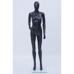 Манекен женский на подставке,цвет черный матовый