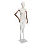 Манекен женский комбинированный без лица с деревянными шарнирными руками