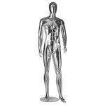 Манекен мужской серебристого цвета в рост WA-1005