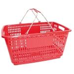 Корзина покупательская пластиковая (красного цвета) 210ПЛ