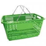 Корзина покупательская пластиковая (зеленного цвета) 210ПЛ