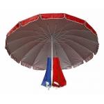 Зонт для уличной торговли круглый диаметром 2.5 метра 250С