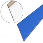 Ценникодержатель полочный пластиковый самоклеящий DBR39 (синего цвета)