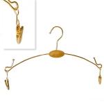 Вешалка бельевая с прищепками,цвет золотистый (длина 27см)