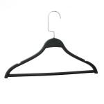 Вешалка-плечик для одежды с перекладиной,черного матового цвета 40см