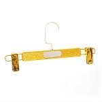 Вешалка с зажимами для юбок и брюк,золотистого цвета(длина 31см)