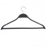 Вешалка-плечик для одежды с перекладиной,черного матового цвета 40см 316В