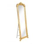Зеркало напольное с узорами,золотистого цвета