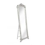 Зеркало напольное с узорами,серебристого цвета
