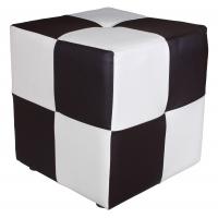 Пуфик шахматный их кожи BNT-1-S