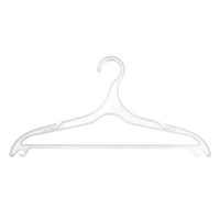 Вешалка плоская пластиковая (белая) 918А