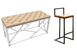 Табуреты, скамейки, стулья в стиле LOFT (7)