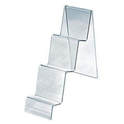 Подставка из оргстекла для кошельков, настольная,тройная OL-203