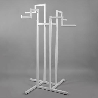 Стойка (вешало) напольная для одежды, регулируемая с 4-мя ступенчатыми кронштейнами
