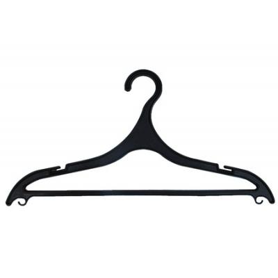 Плечик для одежды пластиковая (черная) А-918