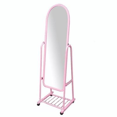 Зеркало торговое на колесах розового цвета 380А